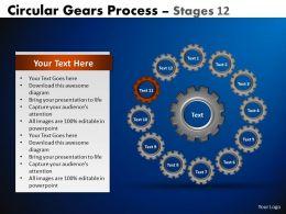 88094146 Style Variety 1 Gears 12 Piece Powerpoint Presentation Diagram Infographic Slide