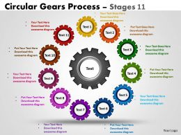 Circular Gears Flowchart Process Diagram Stages 11
