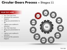 86362056 Style Variety 1 Gears 11 Piece Powerpoint Presentation Diagram Infographic Slide