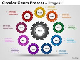 Circular Gears Flowchart Process Diagram Stages 2