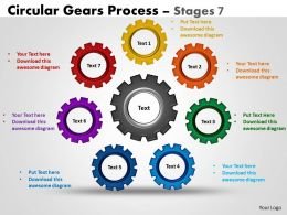 Circular Gears Flowchart Process Diagram Stages 3