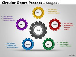 Circular Gears Flowchart Process Diagram Stages 7