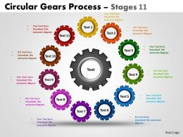 Circular Gears Flowchart Process Diagrams Stages 2