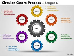 Circular Gears Flowchart Process Diagrams Stages 8