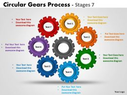 Circular Gears Process diagrams Stages 3