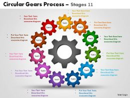Circular Gears Process Stages 11 Powerpoint Slides