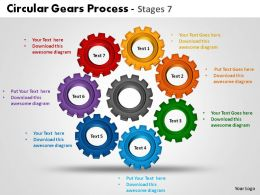 Circular Gears Process Stages 7 Powerpoint Slides