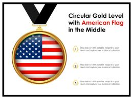 Circular Gold Level With American Flag In The Middle