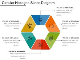 Circular Hexagon Slides Diagram Powerpoint Images
