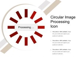 Circular Image Processing Icon