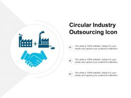 Circular Industry Outsourcing Icon