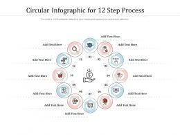 Circular Infographic For 12 Step Process