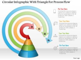 Circular Infographic With Triangle For Process Flow Powerpoint Template