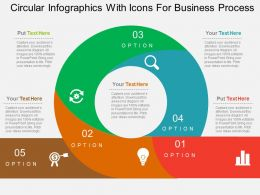 Circular Infographics With Icons For Business Process Flat Powerpoint Design