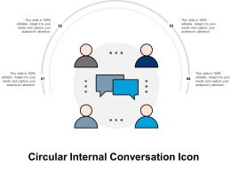 Circular Internal Conversation Icon