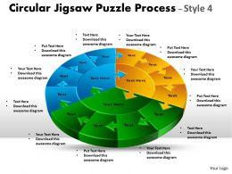 Circular Jigsaw circular diagram Puzzle Process Style 11