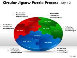 Circular Jigsaw diagram Style 8