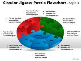 Circular Jigsaw Puzzle circular diagram Flowchart Process Diagram Style 9