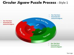 Circular Jigsaw Puzzle diagram cycle Flowchart Process Diagram Style 8