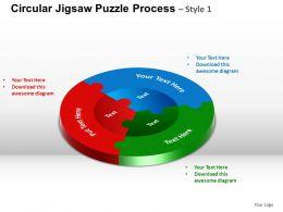 Circular Jigsaw Puzzle Flowchart Process Diagram Style 1 ppt Templates 0412