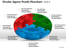 circular_jigsaw_puzzle_flowchart_process_diagram_style_6_Slide01
