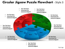 Circular Jigsaw Puzzle Flowchart templates Process Diagram Style 7