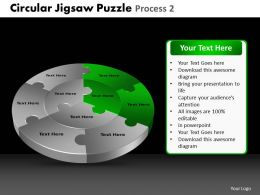Circular Jigsaw Puzzle Process 2 Powerpoint Slides And Ppt Templates DB
