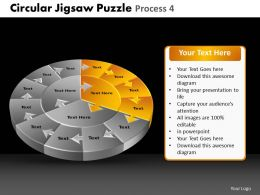 Circular Jigsaw Puzzle Process 4 Powerpoint Slides And Ppt Templates DB