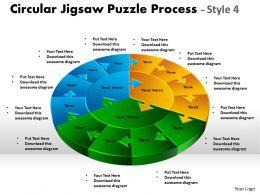 Circular Jigsaw Puzzle Process 9