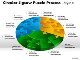 Circular Jigsaw Puzzle Process Style 4