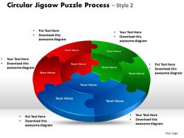 Circular Jigsaw Puzzle Process Style 8