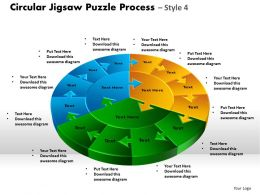 Circular Jigsaw Puzzle Process Style 9