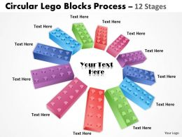 Circular lego blocks 12 Stages