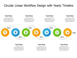 Circular Linear Workflow Design With Yearly Timeline