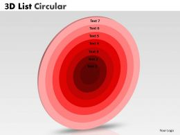 Circular List Diagram With 7 Staged
