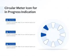 Circular Meter Icon For In Progress Indication
