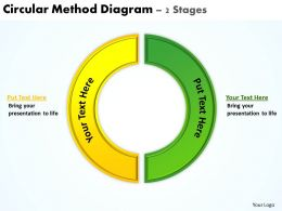 circular method diagram 2 stages powerpoint diagrams presentation slides graphics 0912