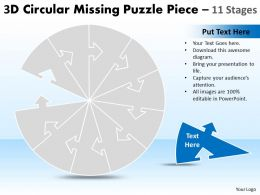 Circular Missing Puzzle Piece 11 Stages