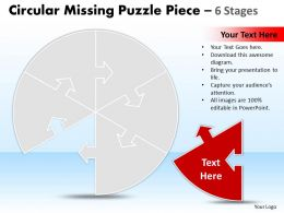 Circular Missing Puzzle Piece 6 Stages