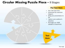 Circular Missing Puzzle Piece 9 Stages