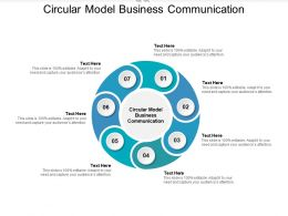 Circular Model Business Communication Ppt Powerpoint Presentation Gallery File Cpb