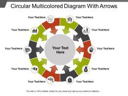 Circular Multicolored Diagram With Arrows