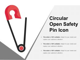 Circular Open Safety Pin Icon