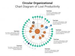 Circular Organizational Chart Diagram Of Lost Productivity Infographic Template