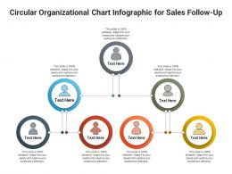 Circular Organizational Chart For Sales Follow Up Infographic Template