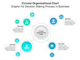 Circular Organizational Chart Graphic For Decision Making Process In Business Infographic Template