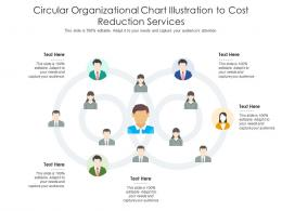 Circular Organizational Chart Illustration To Cost Reduction Services Infographic Template