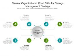 Circular Organizational Chart Slide For Change Management Strategy Infographic Template
