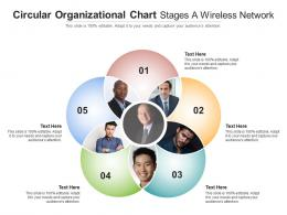 Circular Organizational Chart Stages A Wireless Network Infographic Template