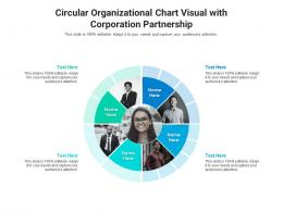 Circular Organizational Chart Visual With Corporation Partnership Infographic Template